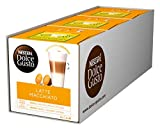 NESCAFÉ Dolce Gusto Latte Macchiato | 48 Kaffeekapseln | Aromatischer Espresso | 3-Schichten -Köstlichkeit aus feinem Milchschaum, 3er Pack (3 x 16 Kapseln)