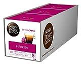 NESCAFÉ Dolce Gusto Espresso | 48 Kaffeekapseln | 100% edle Arabica Bohnen | Charaktervoller Espresso | Fruchtige Granatapfelnote | Samtige Crema | Aromaversiegelte Kapseln | 3er Pack (3 x 16 Kapseln)
