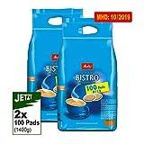 Melitta Cafe BISTRO mild-aromatisch 2x 100 Pads 700g (1400g) - Kaffee Melitta
