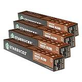 Starbucks House Blend Lungo Kaffee, 4er Set, Medium Roast, Röstkaffee, Nespresso kompatibel, Kaffeekapseln, 40 Kapseln