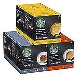 STARBUCKS by NESCAFÉ DOLCE GUSTO Kaffeekapseln Probierset, 72 Kapseln in 3 Espresso-Variationen (6 x 12)