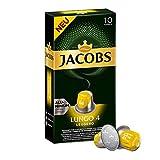 Jacobs Kaffeekapseln Lungo Leggero, Intensität 4 von 12, 10 Nespresso®* kompatible Kapseln für 10 Getränke
