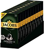 Jacobs Espresso 12 Ristretto, Kaffeekapseln, Nespresso Kompatibel, Kaffee, 100 Kapseln, á 5.2 g