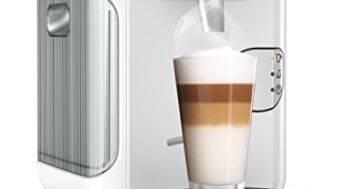 Kaffeepadmaschine mit Milchaufschäumer