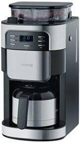 Kaffeemaschine mit Mahlwerk und Thermoskanne