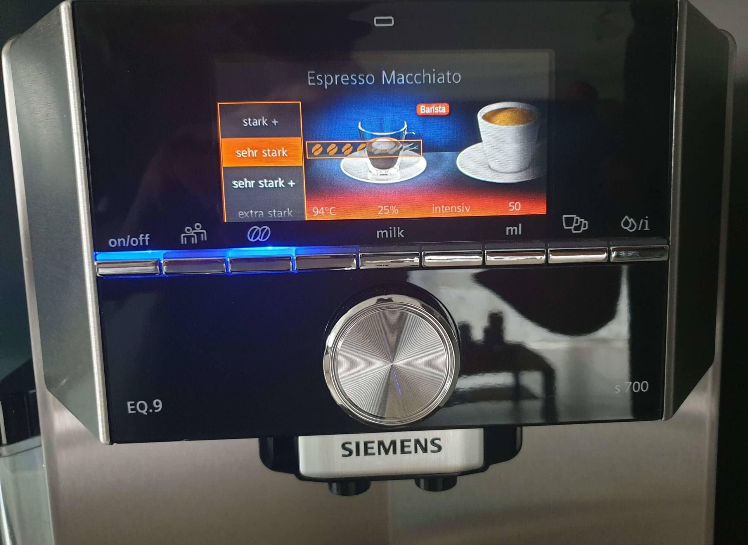 Siemens EQ9 - Der BaristaMode