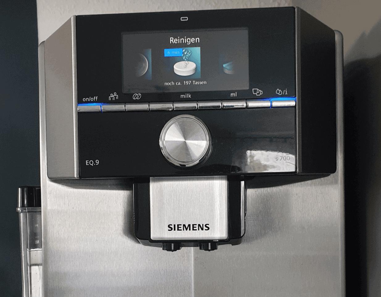 Siemens EQ9 Test - Reinigungsprogramm