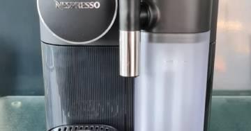 Kapselmaschine mit Milchaufschäumer
