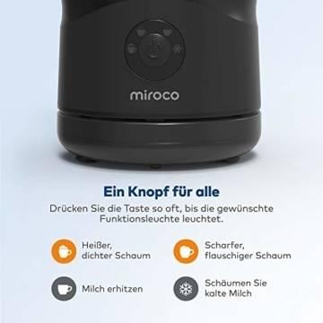 Miroco Milchaufschäumer Elektrisch schwarz