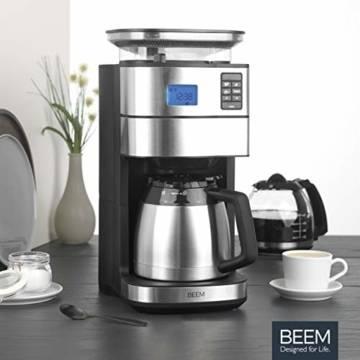 Filterkaffeemaschine mit Mahlwerk und Thermoskanne